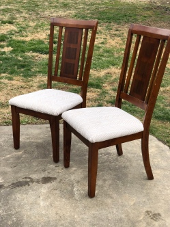 reupholster chairs - before and after